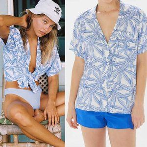 Urban Outfitters Trent Short Sleeve Button Down S